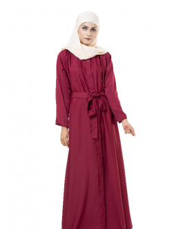 OPEN FRONT PEARL ABAYA